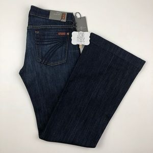 NWT 7 for all mankind dojo flare jeans 29x34